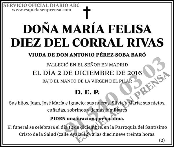 María Felisa Diez del Corral Rivas